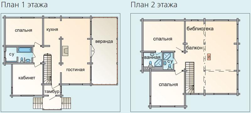 Как построить дом из клееного бруса, деревянные двухэтажные .